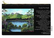 Twin Ponds And 23 Psalm On Black Horizontal Carry-all Pouch