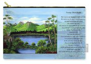 Twin Ponds And 23 Psalm On Blue Horizontal Carry-all Pouch