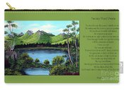 Twin Ponds And 23 Psalm On Green Horizontal Carry-all Pouch