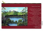 Twin Ponds And 23 Psalm On Red Horizontal  Carry-all Pouch