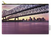 Twins Bridge Over A River, Crescent Carry-all Pouch