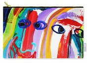 Two Abstract Faces Carry-all Pouch