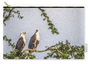 Two African Fish Eagles Haliaeetus Vocifer  Carry-all Pouch