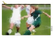 Two Against One Expressionist Soccer Battle  Carry-all Pouch