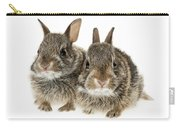 Two Baby Bunny Rabbits Carry-all Pouch
