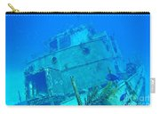 Two Blue Tang On A Ship Wreak Carry-all Pouch