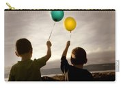 Two Children With Balloons Carry-all Pouch