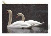 Two Christmas Swans A Swimming Carry-all Pouch