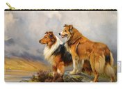 Two Collies Above A Lake Carry-all Pouch