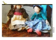Two Colonial Rag Dolls Carry-all Pouch