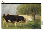 Two Cows In A Meadow Carry-all Pouch