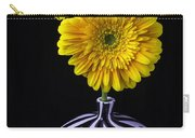 Two Daises In Striped Vase Carry-all Pouch