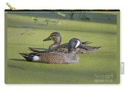 Two Ducks Passing By Carry-all Pouch