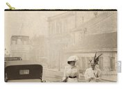 Two Edwardian Ladies Crossing A Cobbled Street Carry-all Pouch