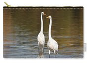 Two Egrets In The Pond Carry-all Pouch