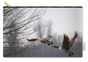 Two Geese In Flight Carry-all Pouch
