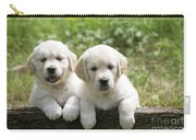 Two Golden Retriever Puppies Carry-all Pouch