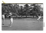 Two Golfers Body English Carry-all Pouch