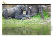 Two Gorillas Relaxing II Carry-all Pouch