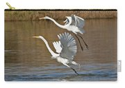 Two Greater Egrets  Carry-all Pouch