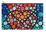 Two Hearts - Mosaic Art By Sharon Cummings Carry-all Pouch