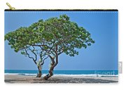 Two Heliotrope Trees On Tropical Beach Art Prints Carry-all Pouch