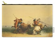 Two Indians Killing A Buffalo Carry-all Pouch