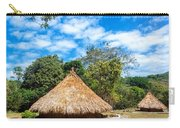 Two Indigenous Huts Carry-all Pouch