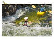 Two Kayakers On A Fast River Carry-all Pouch