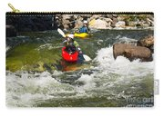 Two Kayakers On A Whitewater Course Carry-all Pouch