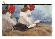 Two Ladies In A Carriage Ride Carry-all Pouch