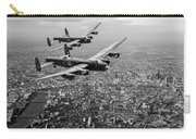 Two Lancasters Over London Black And White Version Carry-all Pouch