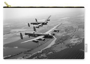 Two Lancasters Over The Upper Thames Black And White Version Carry-all Pouch