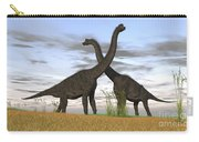 Two Large Brachiosaurus In Prehistoric Carry-all Pouch by Kostyantyn Ivanyshen