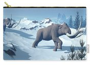 Two Large Mammoths Walking Slowly Carry-all Pouch by Elena Duvernay