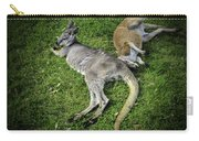 Two Lazy Kangaroos Lying Down Carry-all Pouch