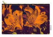 Two Lilies Gradient Ink Outline Carry-all Pouch