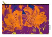 Two Lilies Gradient Carry-all Pouch