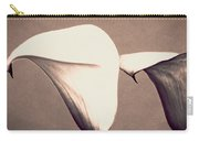 Two Lilies In Sepia Carry-all Pouch