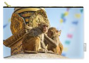 Two Macaques On Top Of Chorten Carry-all Pouch