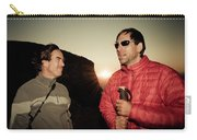 Two Men Share Stories As The Sun Sets Carry-all Pouch