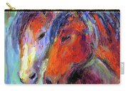 Two Mustang Horses Painting Carry-all Pouch by Svetlana Novikova