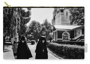 Two Nuns- Black And White - Novodevichy Convent - Russia Carry-all Pouch
