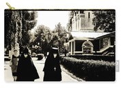 Two Nuns - Sepia - Novodevichy Convent - Russia Carry-all Pouch