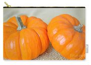 Two Orange Pumpkins Carry-all Pouch