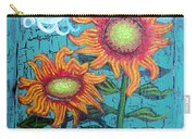 Two Orange Sunflowers Carry-all Pouch