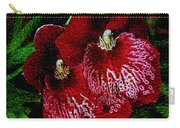 Two Orchids Carry-all Pouch by Elizabeth Winter