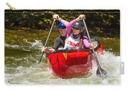 Two Paddlers In A Whitewater Canoe Making A Turn Carry-all Pouch