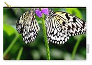 Two Paper Kite Or Rice Paper Or Large Tree Nymph Butterfly Also Known As Idea Leuconoe Carry-all Pouch