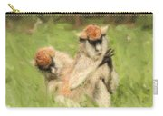 Two Patas Monkeys Erythrocebus Patas Grooming Carry-all Pouch